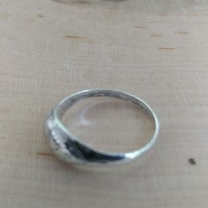 Vintage Jewelry - Vintage small / girls sterling silver ring size 4